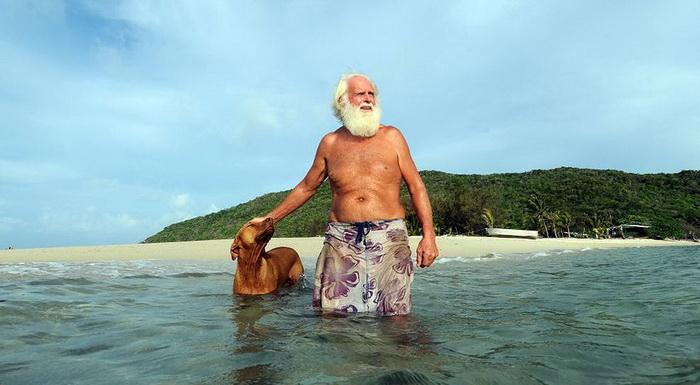 Дэвид Глашин и его верный пес.