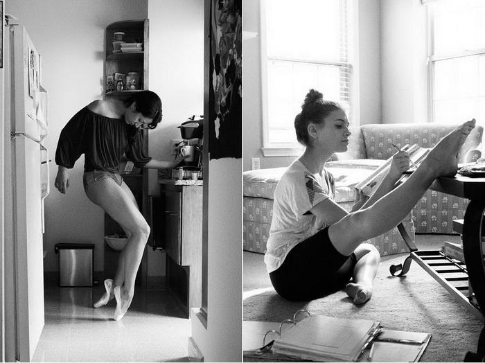 Фотографии танцоров в домашней обстановке от Дєвида Перкинса (David Perkins)