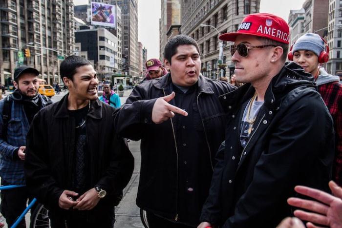 Рэперы на улицах Манхэттена.
