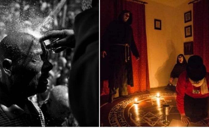 Фотографии представителей различных субкультур.