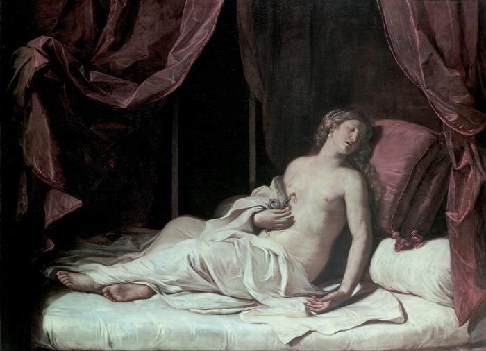 Смерть Клеопатры. Джованни Франческо Барбьери, 1648 год