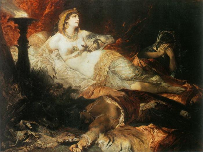 Смерть Клеопатры. Ганс Макарт, 1875 год