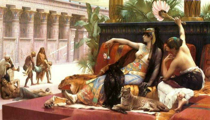 Клеопатра испытывает яды на рабах. Александр Кабанель