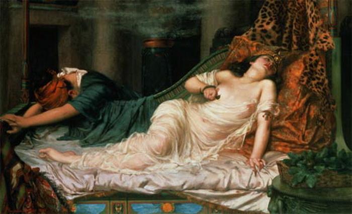 Смерть Клеопатры. Регинальд Артур, 1892 год