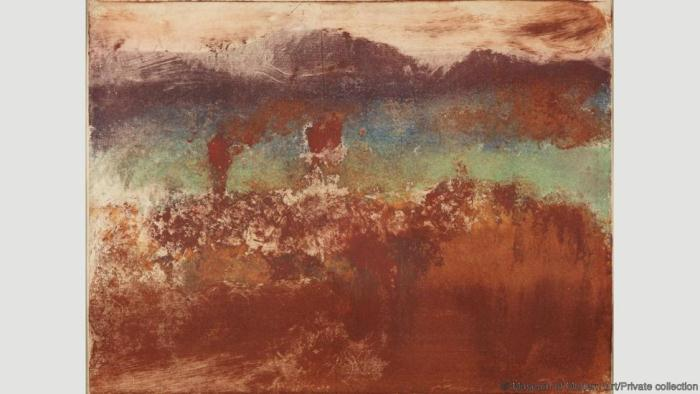 Осенний пейзаж. Эдгар Дега. 1890