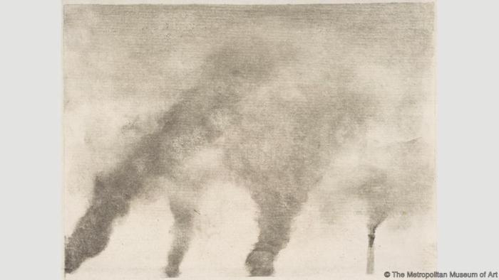 Дым заводов. Эдгар Дега. 1877-79
