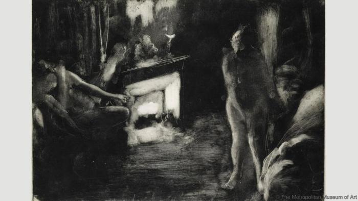 The Fireside. Эдгар Дега. 1880-85
