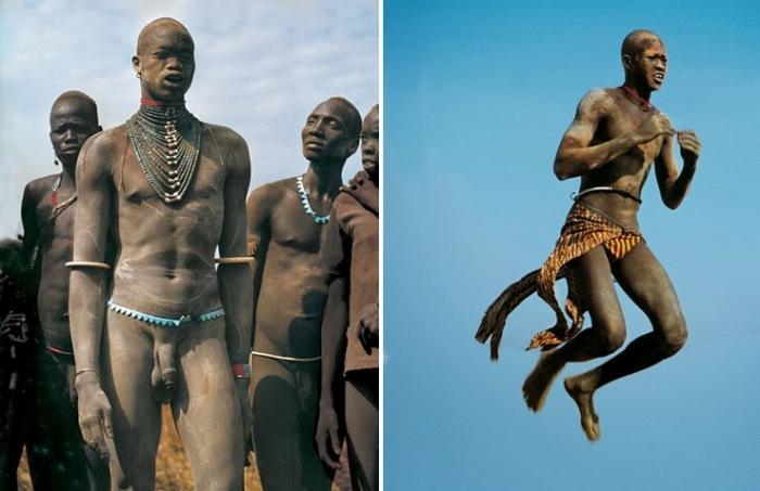 Мужчины динка не носят одежду