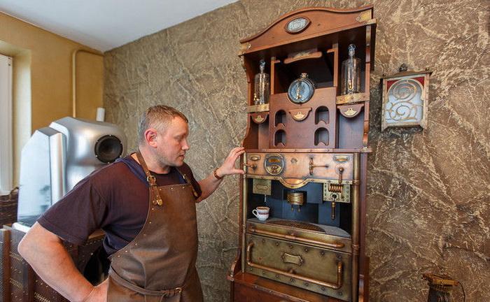Кофе-машина в стиле стимпанк от Дмитрия Тихоненко