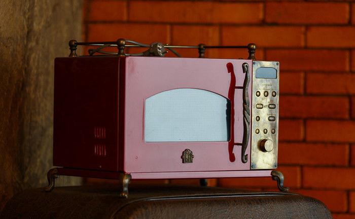 Микроволновая печь в стиле стимпанк от Дмитрия Тихоненко