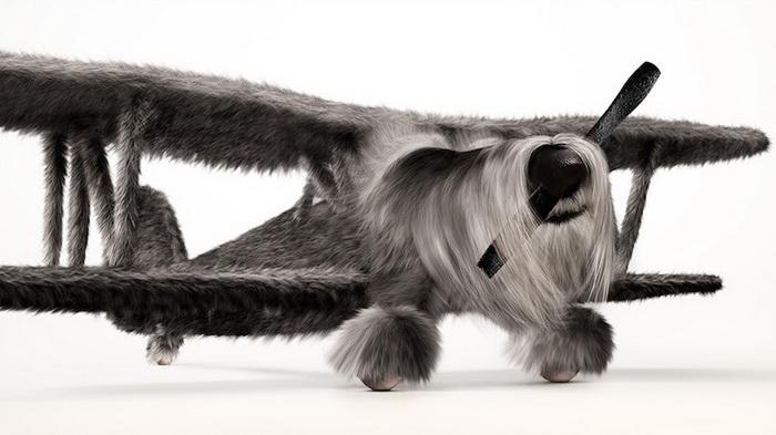 Собаки и самолеты в забавном проекте продакшн студии Ink