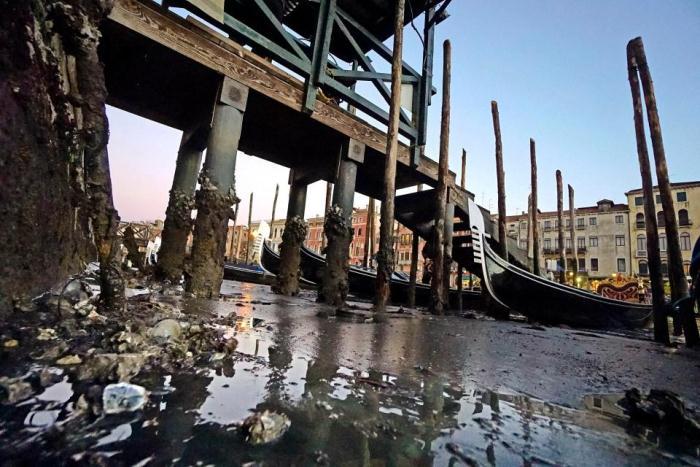 Обмелевшие каналы Венеции.