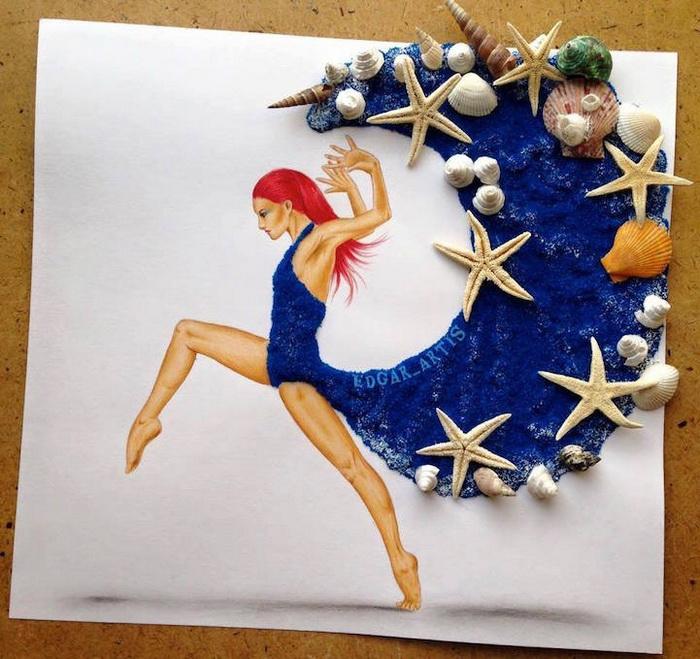 Сила и страсть моря: платье, украшенное ракушками