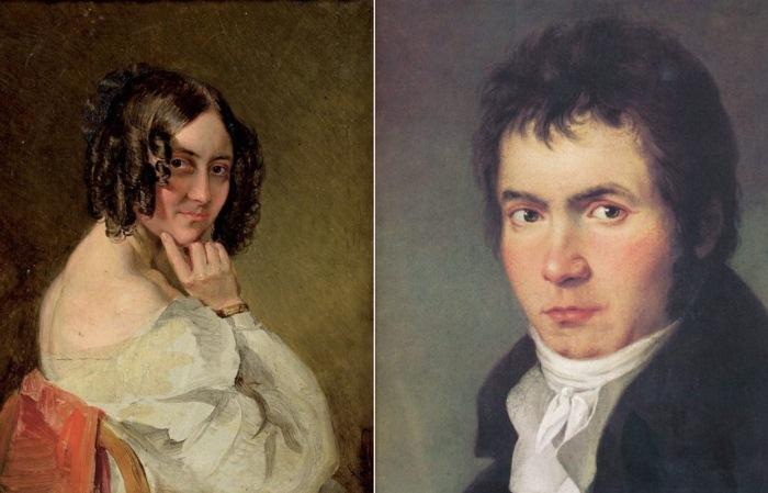 Тереза Мальфатти и Людвиг ван Бетховен.