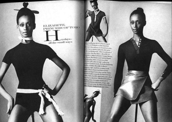 Элизабет Фон Торо на обложке журнала.