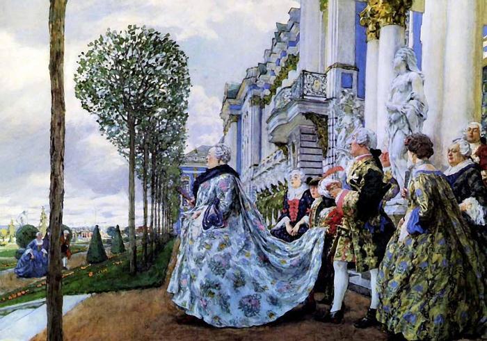 Лансере Е. Е. «Императрица Елизавета Петровна в Царском Селе»