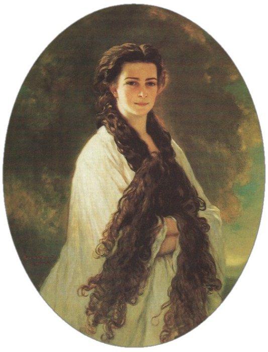 Портрет Сисси с распущенными волосами, 1864 г.