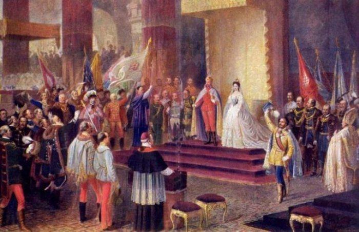 Коронация Франца Иосифа и Елизаветы.