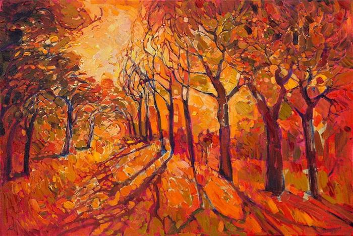 Золотая осень на картинах Эрин Хенсон (Erin Hanson)
