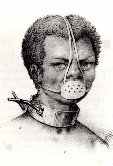 Портрет рабыни Анастасии в маске-наморднике
