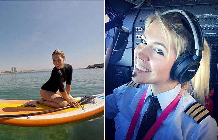 Девушка-пилот Ева Клэр покорили Интернет фотографиями, сделанными на работе.