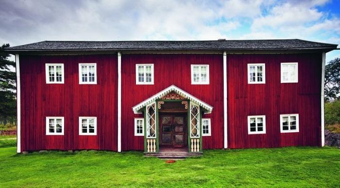 Деревянные дома в шведской провинции Хельсингланд
