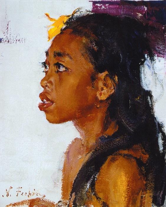 Николай Фешин. Девочка с острова Бали, 1934 год