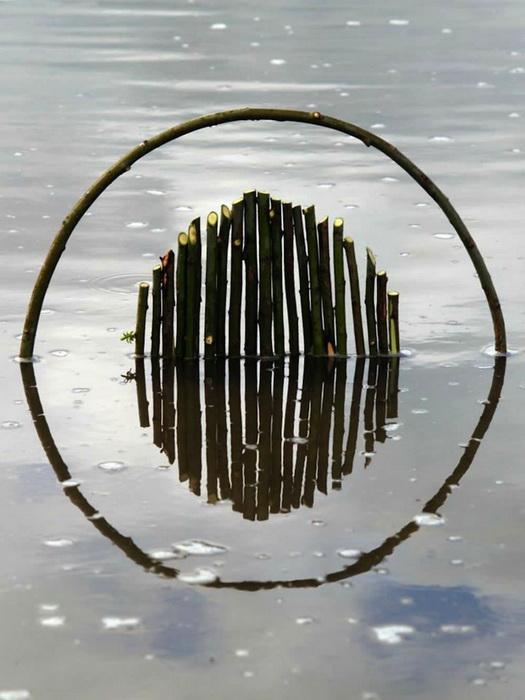 Back to Nature: геометрический лэнд-арт от Fesson Ludovic