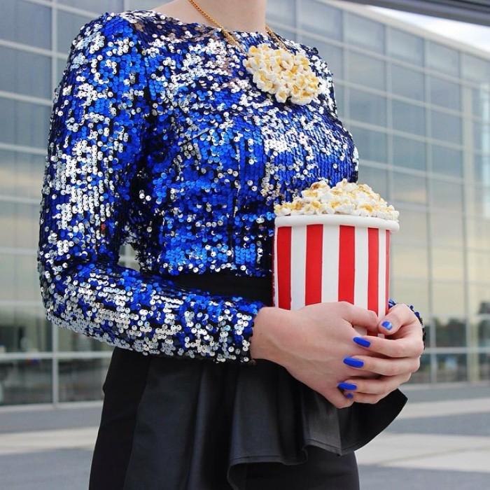 Стильная сумочка-попкорн