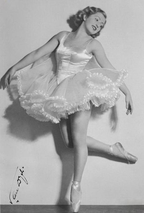 Франциска Манн - талантливая польская балерина. Фото: polish-vintage.tumblr.com