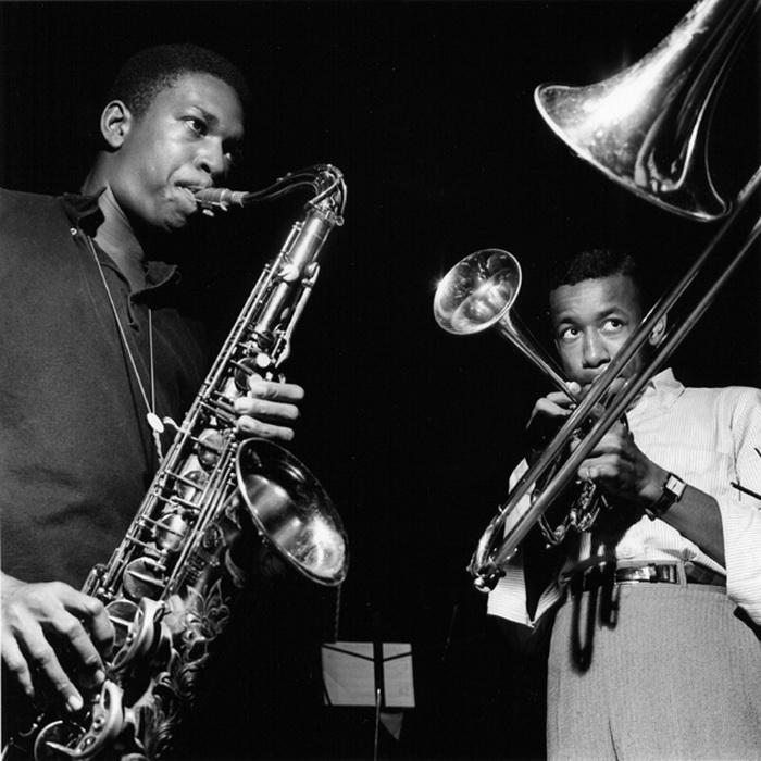 Саксофонист Джон Колтрейн и трубач Ли Морган. Фотография Фрэнсиса Вольфа