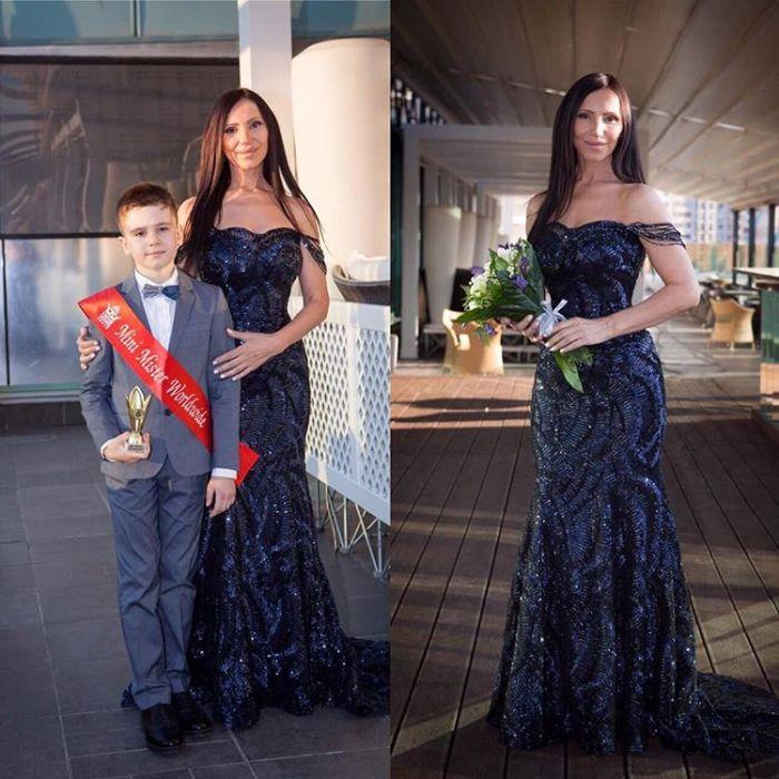 Светлана Гасс с внуком, тоже победителем конкурса красоты