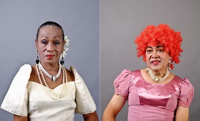 Яркие женские портреты из приюта для людей нетрадиционной ориентации. На фото: Глориа Манила, 68 лет; Моник дела Ру, 63 года