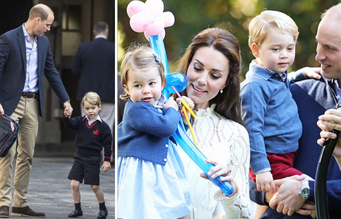 Принц Джордж Кембриджский пошел в школу.