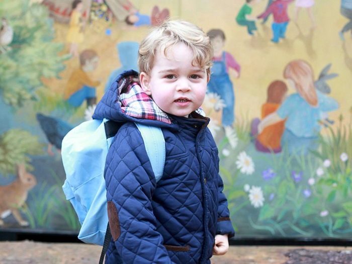 Принц Джордж стал учеником подготовительной школы.