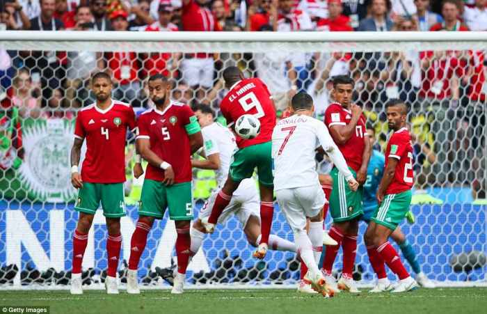 Матч Португалии против Марокко.