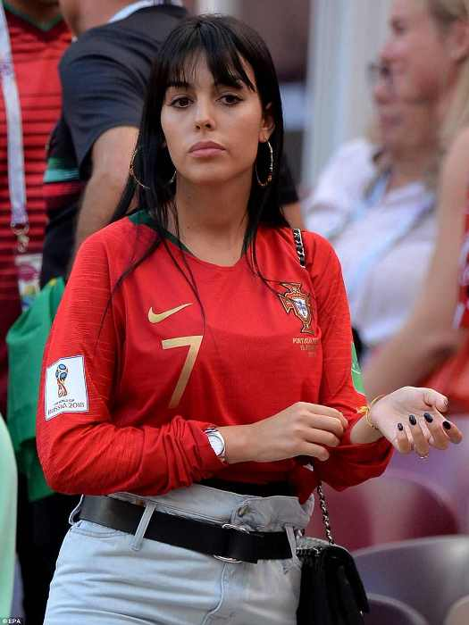 Джорджина Родригес на стадионе «Лужники».