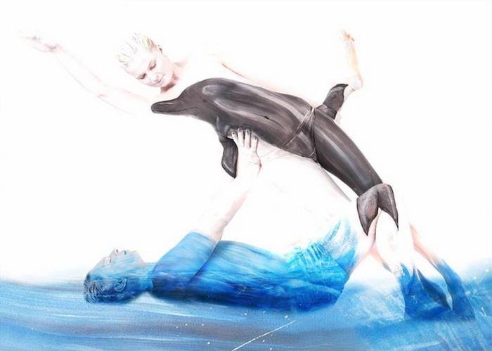 Рисунки на человеческом теле: боди-арт от Гезине Марведель (Gesine Marwedel)