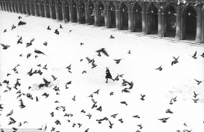 На площади Святого Марка, 1960 год. Фотограф: Gianni Berengo Gardin