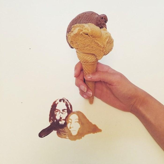 Рисунок мороженым
