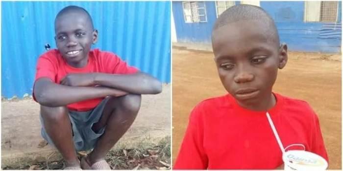 Джон Туо - бездомный мальчишка, который спас Глэдис. Фото: tuko.co.ke
