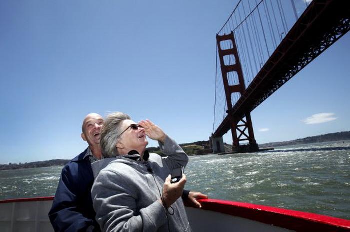 Ларри и Барбара все-таки смогли увидеть знастоящий Golden Gate Bridge