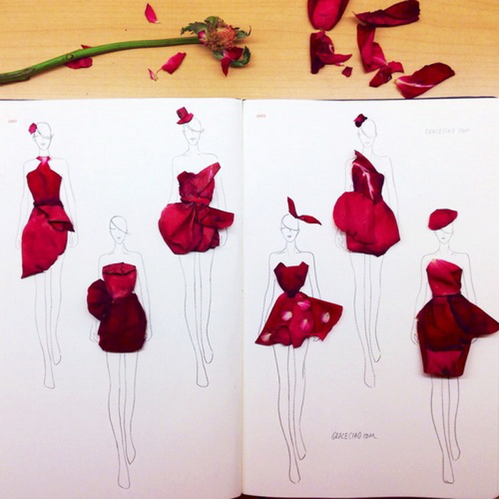 Дизайнер платьев из цветов