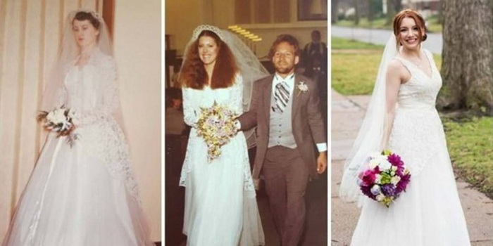 Свадебное платье стало семейной реликвией.
