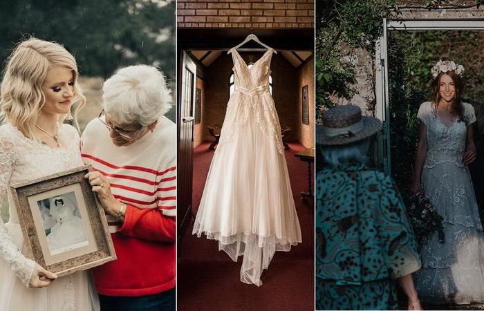 Невесты, решившие идти под венец в свадебном платье своих бабушек и прабабушек.