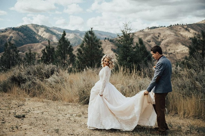 Свадебное платье 1962 года обрело новую жизнь.
