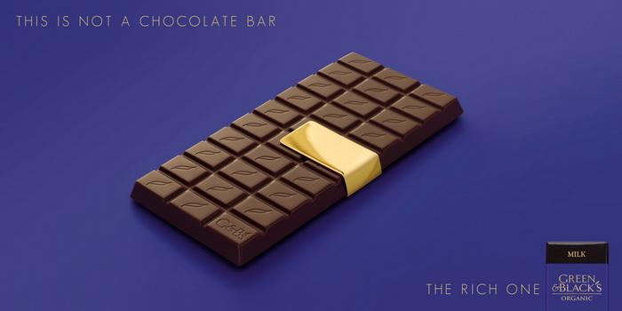 This is not a chocolate bar. Яркая реклама шоколада Green & Black's