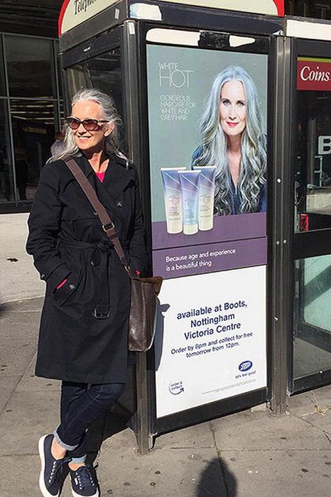 Никола Гриффин: в жизни и на рекламном постере