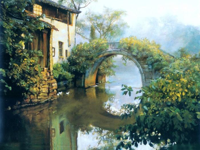 Живописные пейзажи от китайского художника Гуань Цзэцзуй (Guan ZeJu)