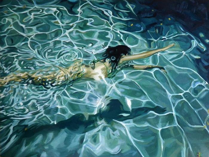 Рисунок плавающих людей